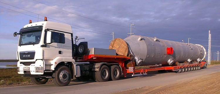 Перевозка негабаритных грузов в Москву